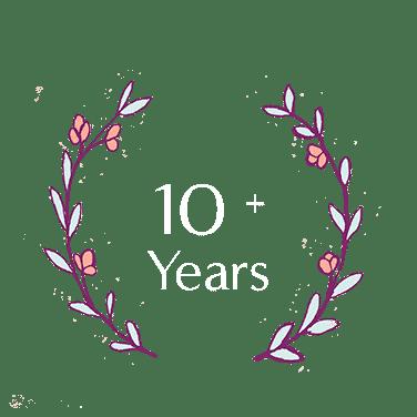 10 + years
